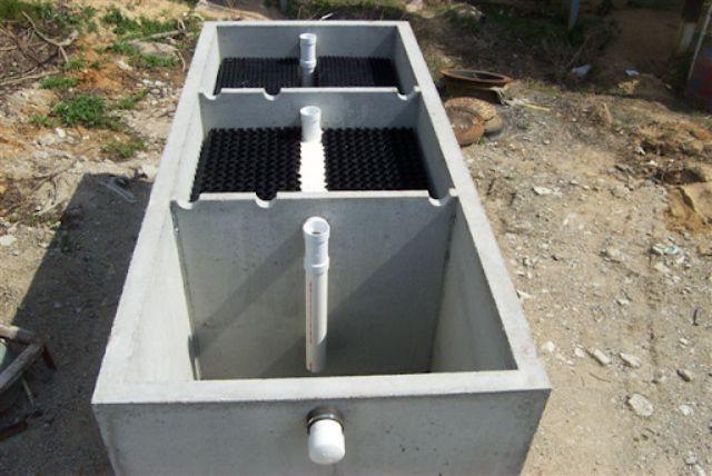 Bể phốt 3 ngăn bằng bê tông