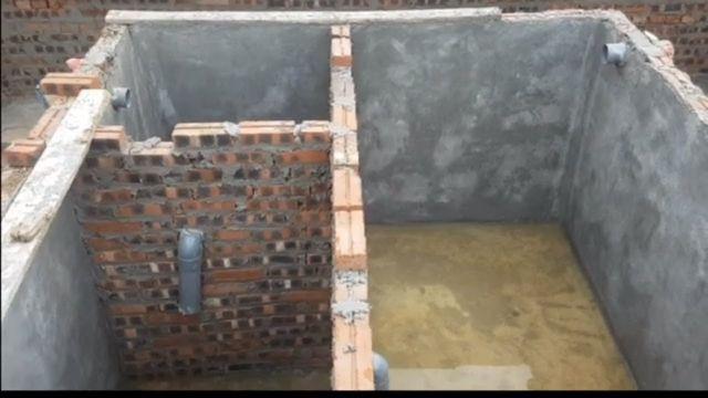 bể phốt 3 ngăn bằng gạch nung