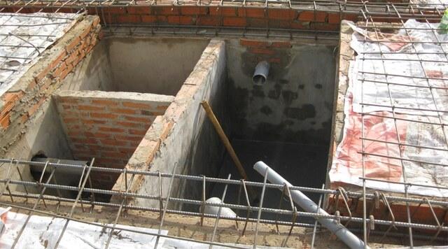 lưu ý xây bể phốt cho chung cư